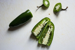 jalapeño peppers, inside out