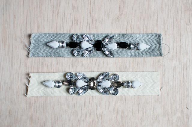 Make a jeweled ribbon bracelet