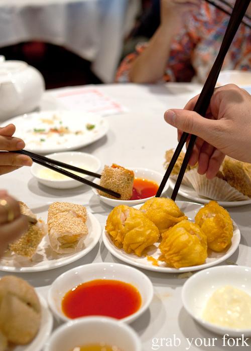 Yum cha chopsticks at The Eight, Chinatown