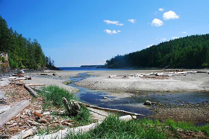 Open Bay, Quadra Island, Discovery Islands, British Columbia, Canada