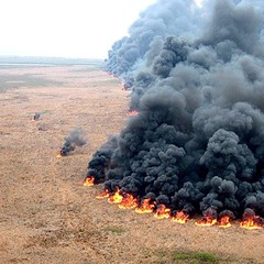 Ariel of a Controlled #burn in the #marsh yes old pic go #airboating live the #airboatlife with #airboataddicts