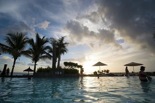 春节 旅行 度假 日落 天空 富士 毛里求斯 泳池