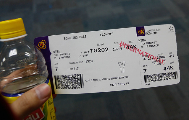 TG202 NTBA Boarding pass