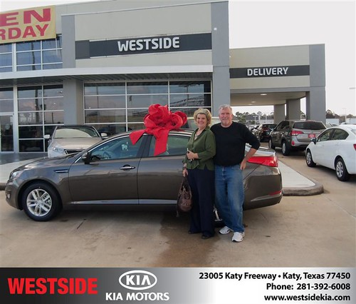 Happy Anniversary to John T Carey on your 2013 #Kia #Optima from Suliveras Wilfredo and everyone at Westside Kia! #Anniversary by Westside KIA