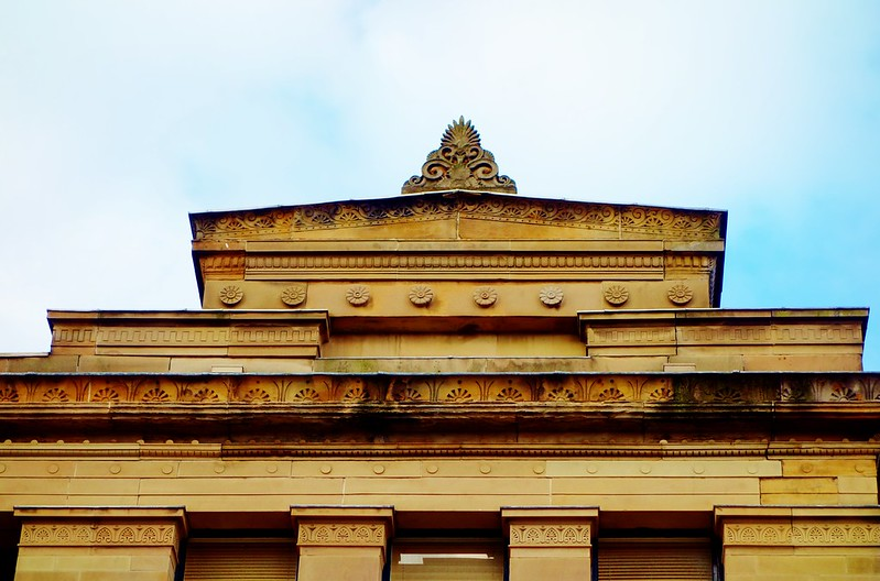 Detail from Grecian Buildings,336-356 Sauchiehall Street/Scott Street, Glasgow