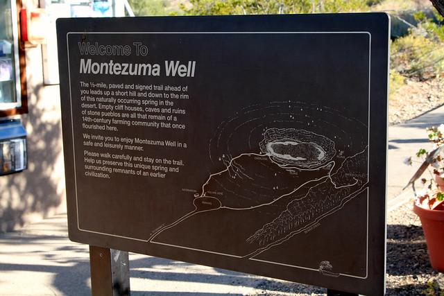 Montezuma Well Sign