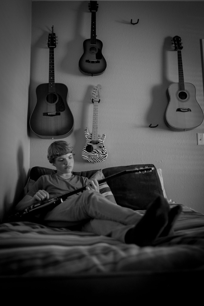 55/365 Relaxing and strumming