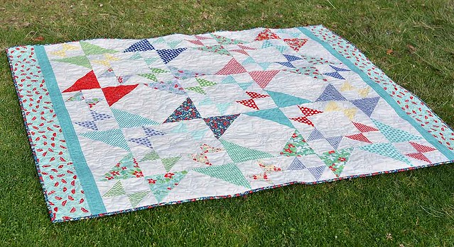 April Showers Hourglass Star Quilt