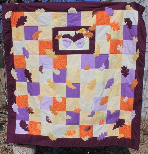 Purple Oak Leaf Quilt