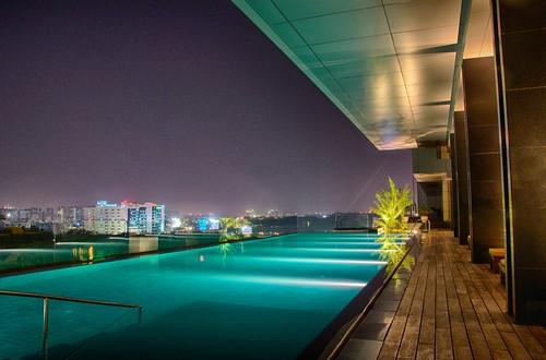 india green pool swimming hotel aqua hyderabad tones trident