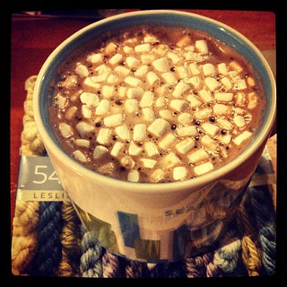 Oh, you know, I'm having a little #hotchocolate with my #marshmallows #winterwontend