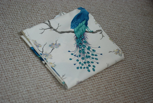 Hillary's peacock bird fabric