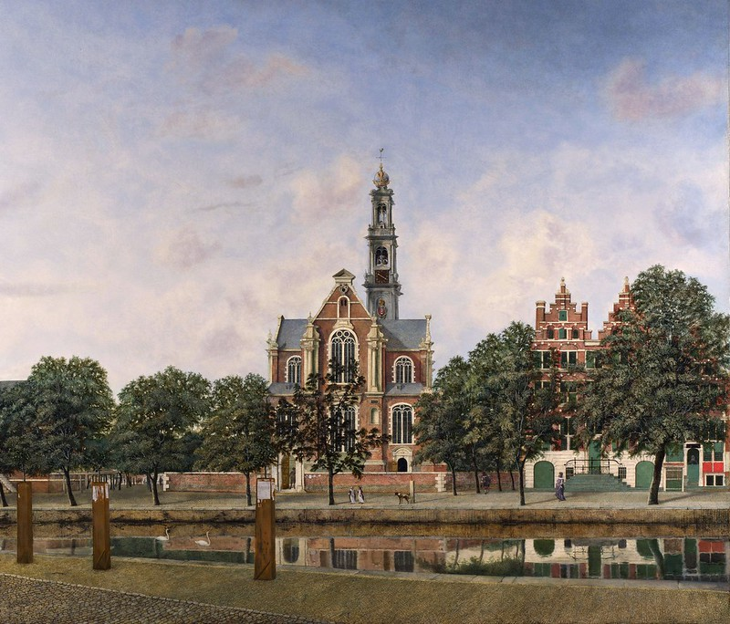 Jan van der Heyden - View of the Westerkerk, Amsterdam (c.1660)