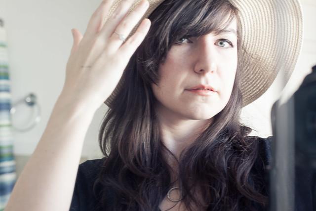Fix a crumpled straw hat