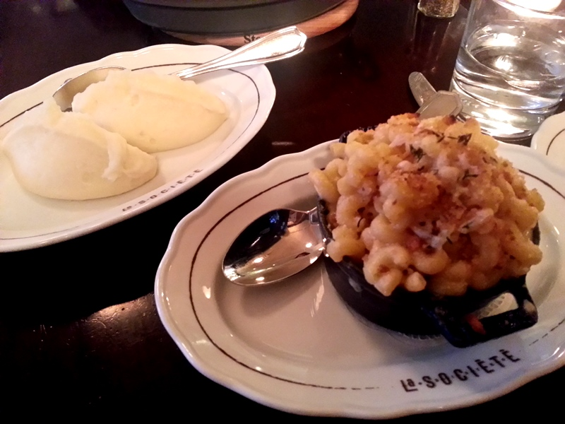 La Societe pomme puree mac and cheese