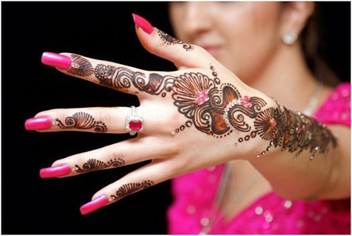 Latest Glitter Bridal Mehndi Designs (33)