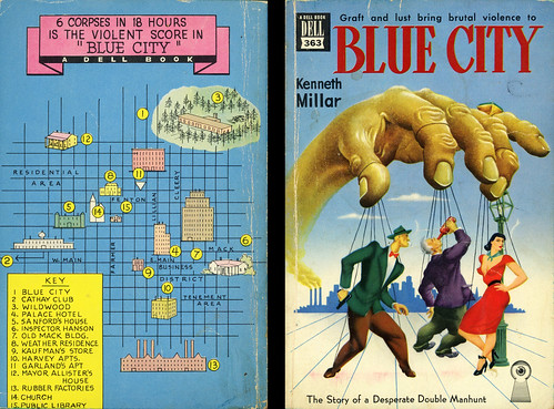 Dell Books 363 - Kenneth Millar - Blue City (with mapback)