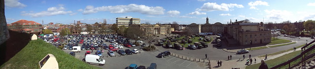 Ex-Military trucks at the Eye of York.