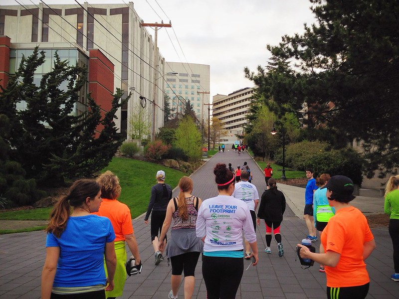 Wednesday hill training with the Fleet Feet training group