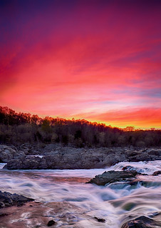Sunset at Great Falls - Maryland side