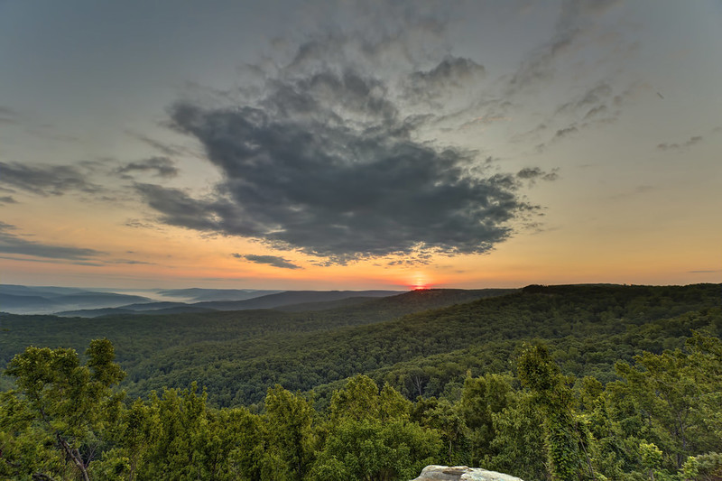Sunrise, Rocking Rock, White County, Tennessee 4