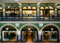 The shopping arcade.