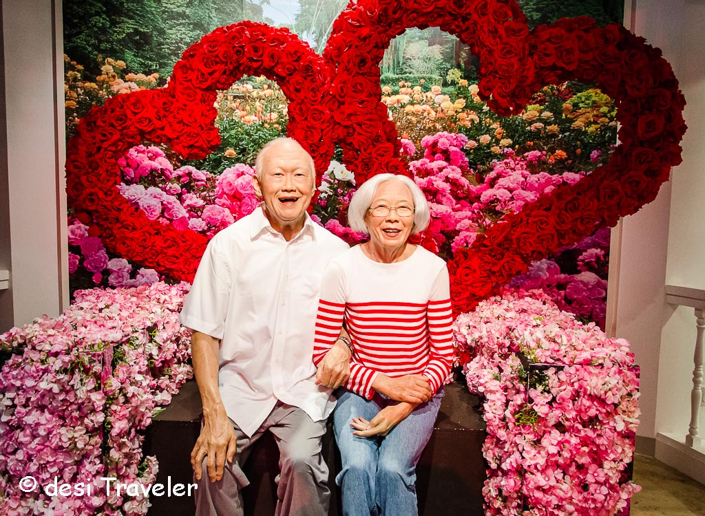 Lee Kuan Yew, with his wife Kwa Geok Choo Madame Tussauds