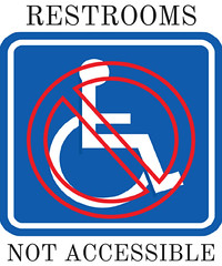 Restrooms Not Accessible