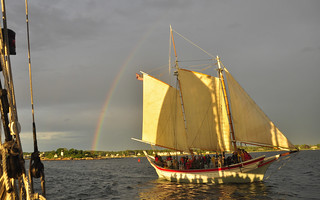Schooner Ardelle private sail for Spruce Point Inn guests June 28, 2017