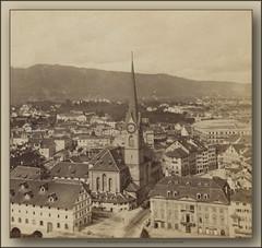 5674 R Zurich The Fraumünster Church 206 Ivan Deberto Optik Mechanik u Zagrebu year cca 1890