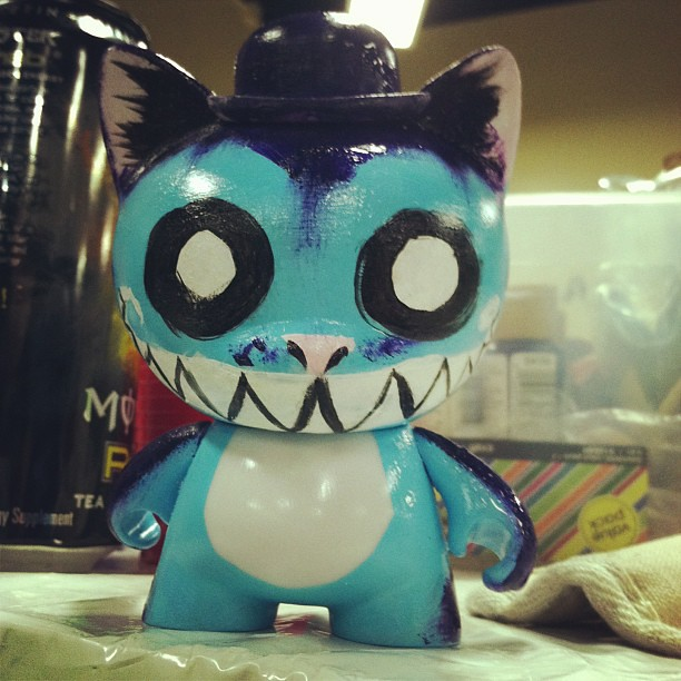 Making my #munny @jerrysaustin  #cheshirecat #aliceinwonderland