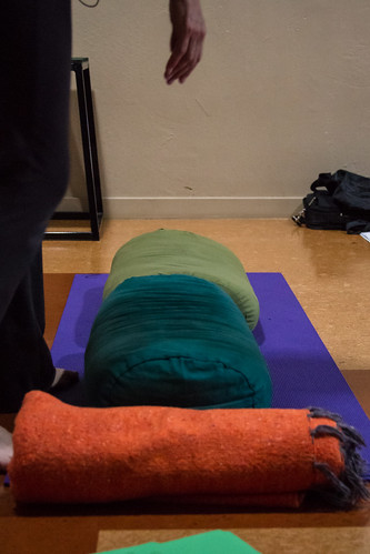 Props for Modified Bridge Pose (Setu Bandha Sarvangasana)