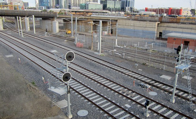 Regional Rail Link: Near North Melbourne station, July 2013
