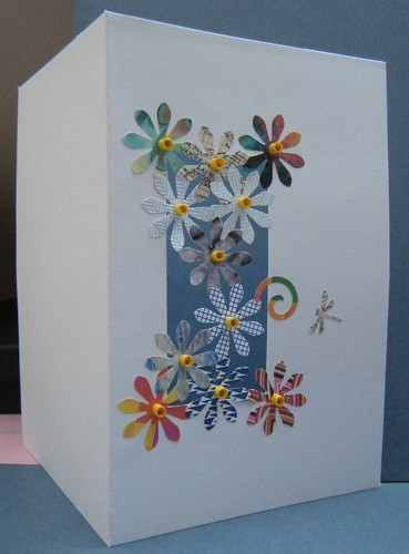 Punch art card with just a little quilling by Philippa Reid
