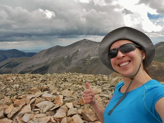 Thumbs up from Cronin Peak (13,878 ft)