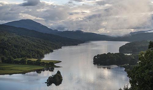 Queens View - Perthshire - On a Fine Summer Evening