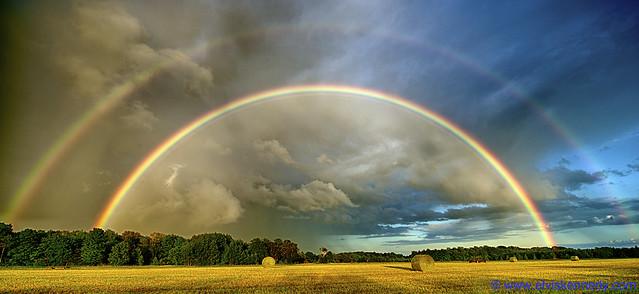 Double Rainbow in Door County