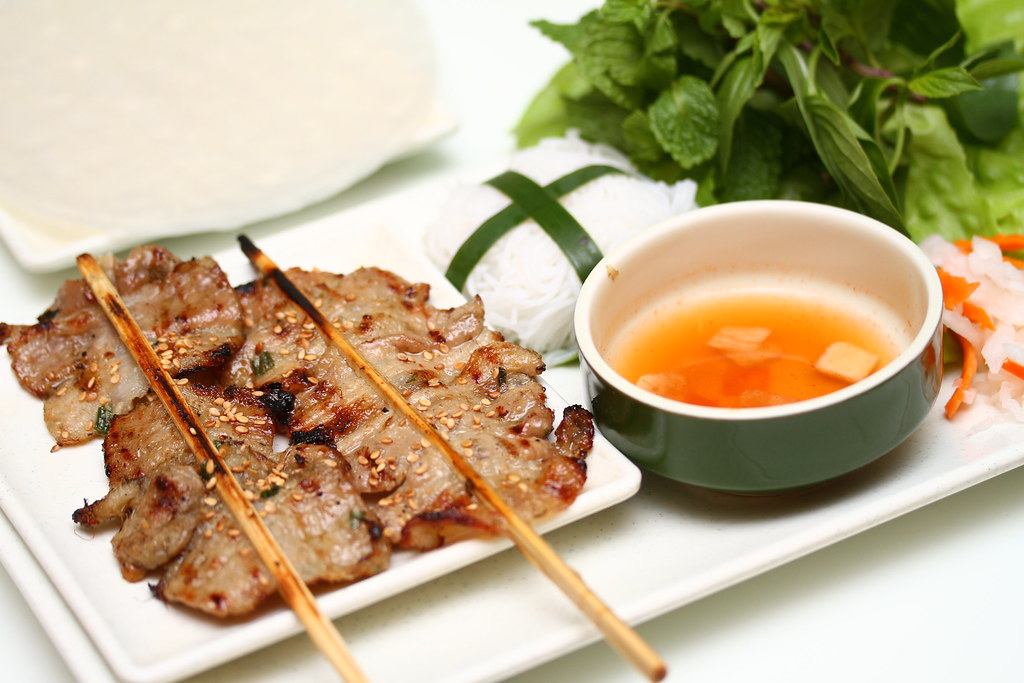 Wrap & Roll: Hanoi grilled pork skewers