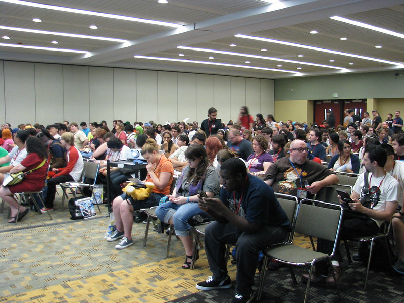 "Audience at ""Real Life of a Manga-Ka: Ruroni Kenshin"" panel."