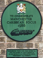 Photo of Caribbean Focus and Rupert Brooke green plaque
