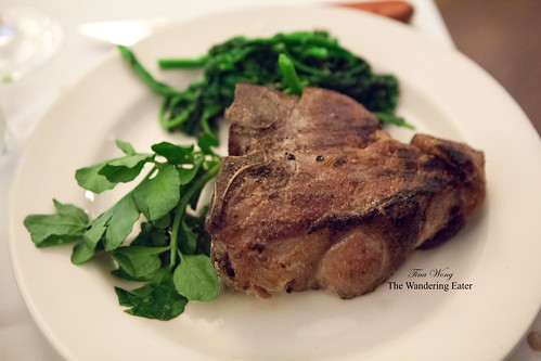 Grilled double-cut veal chop
