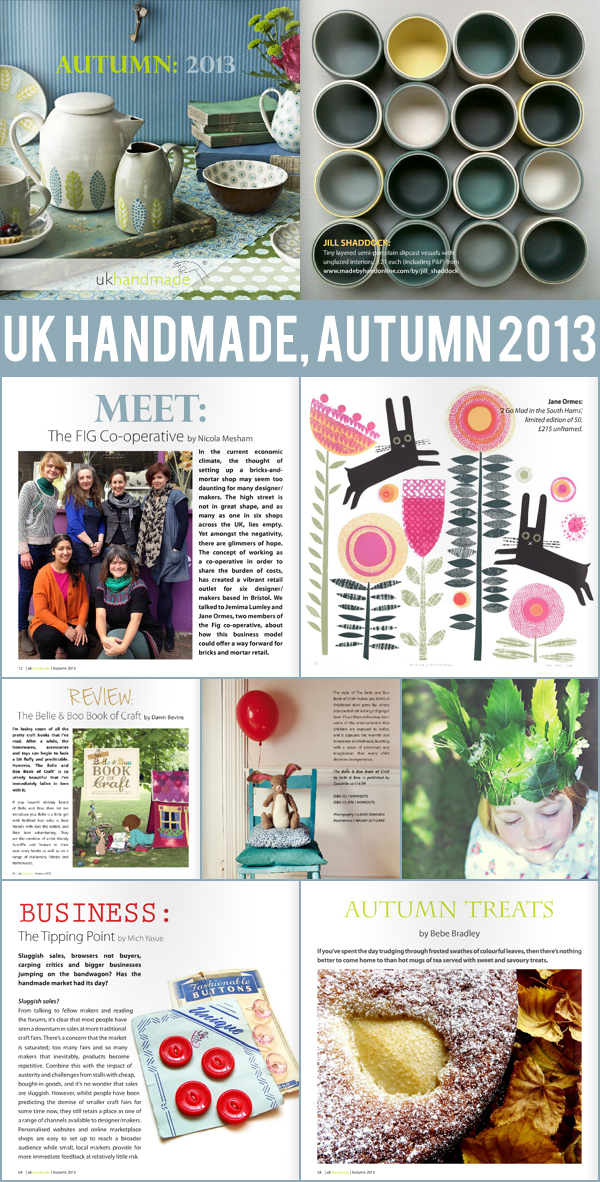 good reads : UK Handmade magazine, Autumn 2013 | Emma Lamb