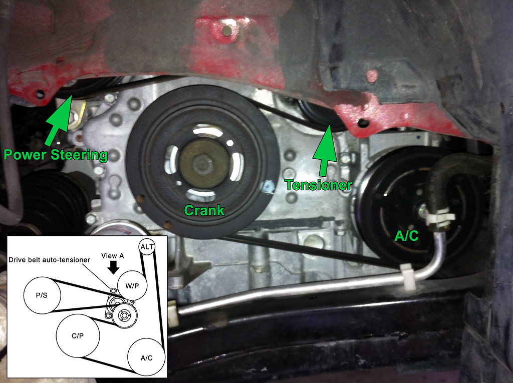 Quick How-To: Drive Belt Change on L32 Altima 2 5L - Nissan