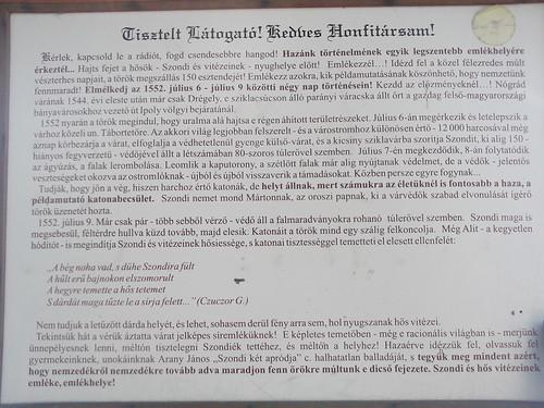 Drégelyvár - Emléktábla