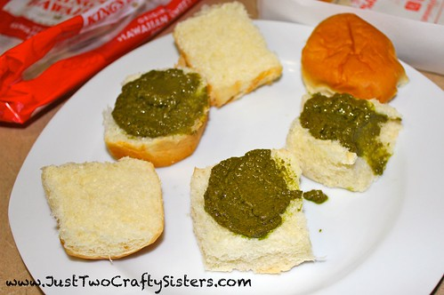 Making pesto sliders