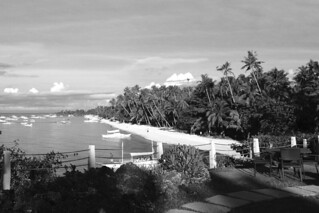 Bohol - Alone Beach morning bw