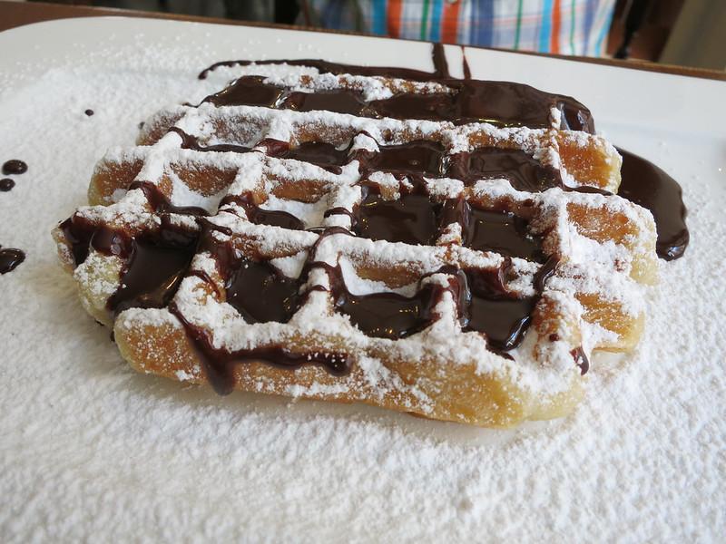 Belgian waffles at Maison Dandoy.
