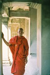 2005-01 Cambodia - Angkor area 318 Rattanah at Angkor Wat
