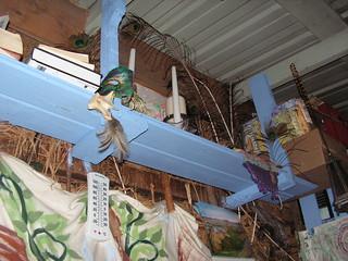 new blue shelves