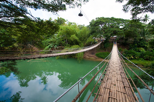 Tigabo Hanging Bridge, Loboc, Bohol